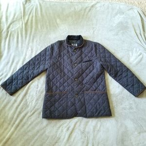 Charles Tyrwhitt Classic Fit Quilted Navy Coat 44R